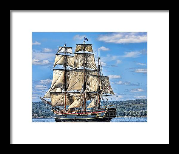 Tall Masted Ship Framed Print featuring the photograph Hms Bounty by Dale Erickson
