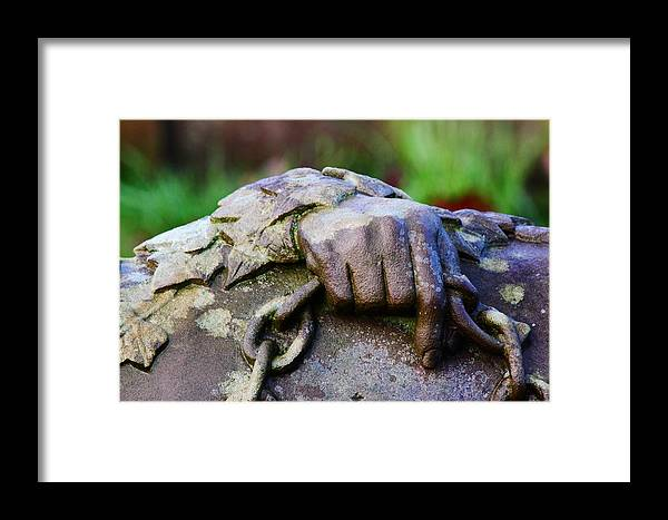 Stone Framed Print featuring the photograph Holding A Memory by John Dunbar