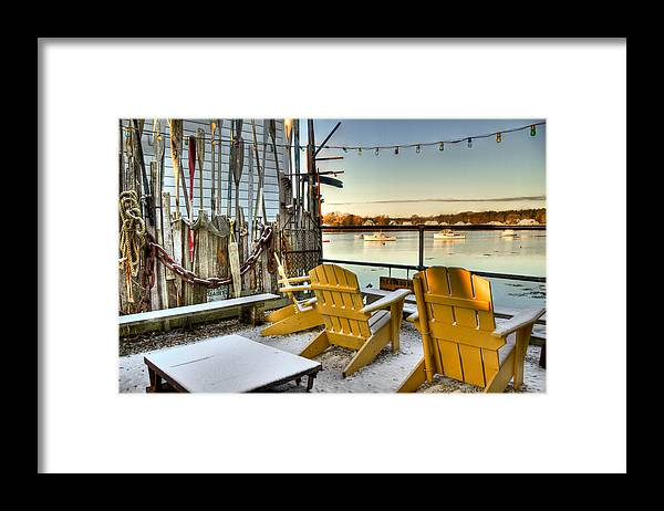 Christmas Framed Print featuring the photograph Holiday Harbor by Brenda Giasson