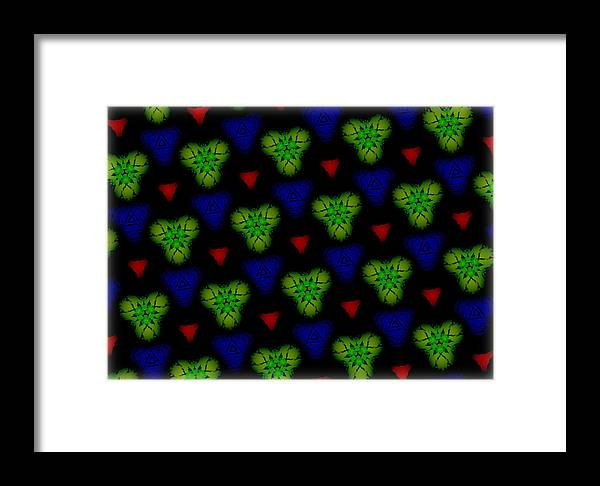 Holiday Lights Framed Print featuring the digital art Holiday Lights by J Burns