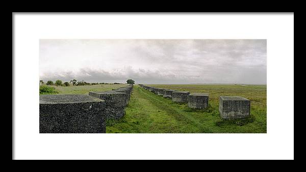 Ww2 Framed Print featuring the photograph Holy Island Barriers by Jan W Faul