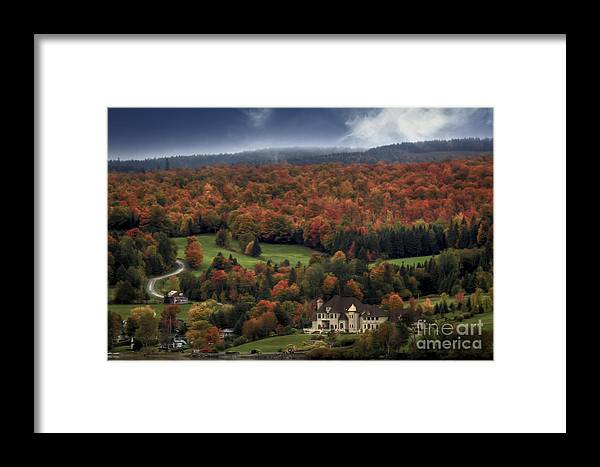 Maine Framed Print featuring the photograph Home In Lac Megantic by Brenda Giasson