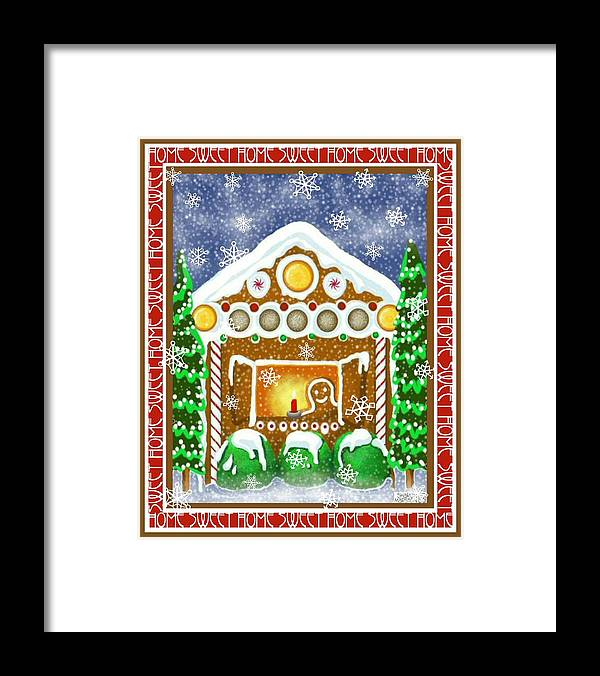 Gingerbread House Framed Print featuring the painting Home Sweet Home by Sharon Marcella Marston