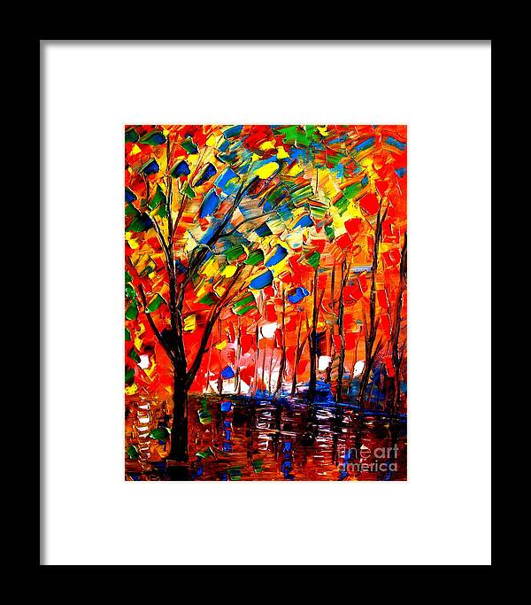 Tree Framed Print featuring the painting Home Tree by Artist SinGh