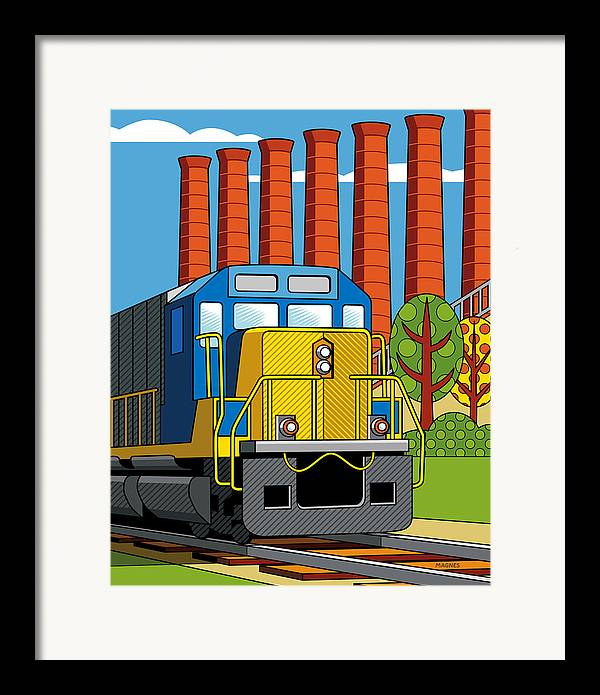 Pittsburgh Framed Print featuring the digital art Homestead Stacks by Ron Magnes