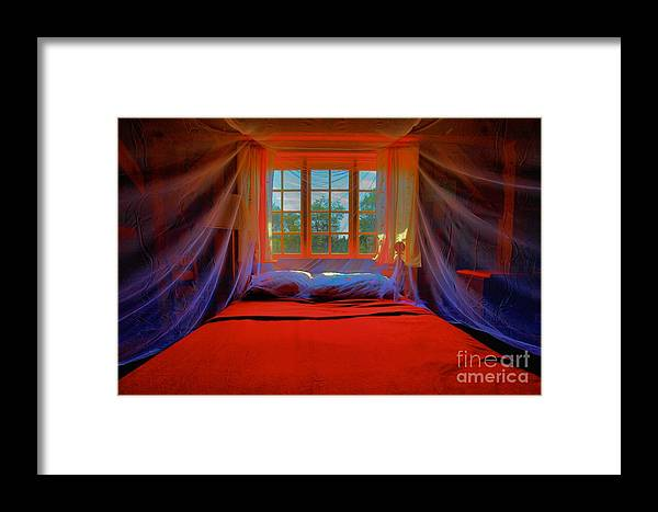 Bed Framed Print featuring the photograph Honeymoon by Adam Jewell