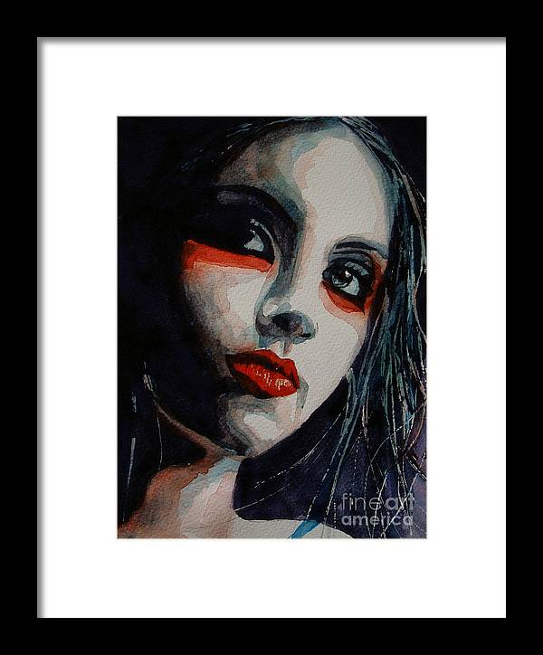 Women Framed Print featuring the painting Honky Tonk Woman by Paul Lovering