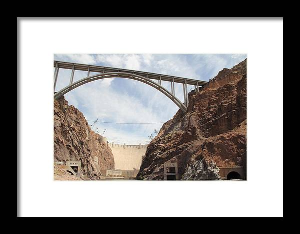 Aerial Framed Print featuring the photograph Hoover Dam by Kim French
