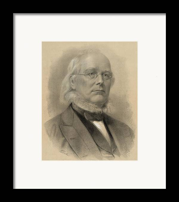 Historical Framed Print featuring the photograph Horace Greeley 1811-1872, Ca. 1872 by Everett