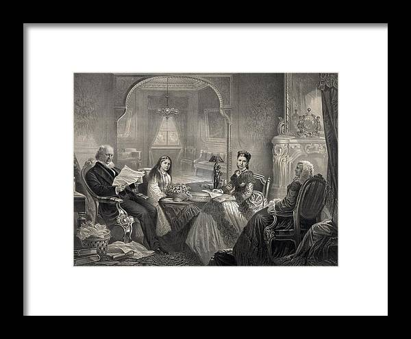Historical Framed Print featuring the photograph Horace Greeley 1811-1872 Shown At New by Everett
