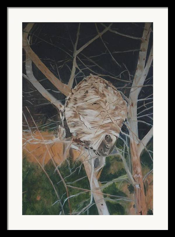 Hornets Framed Print featuring the painting Hornet's Nest by Terry Forrest
