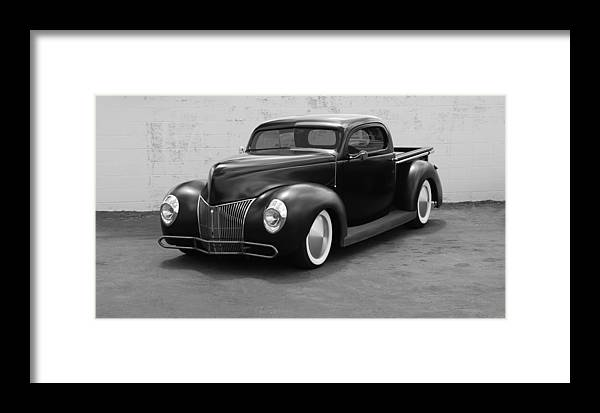 Hot Rod Framed Print featuring the photograph Hot Rod Pick Up by Rob Hans