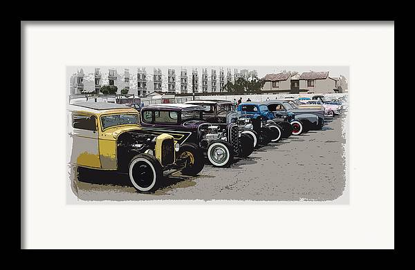 Hot Rods Framed Print featuring the photograph Hot Rod Row by Steve McKinzie