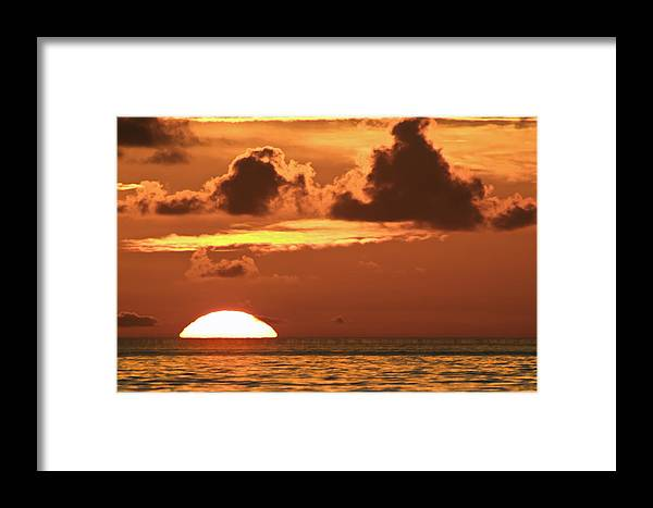 Sunrise Framed Print featuring the photograph Hot Sunrise 1 by Patrick M Lynch