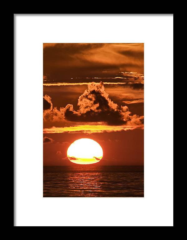 Sunrise Framed Print featuring the photograph Hot Sunrise 2 by Patrick M Lynch