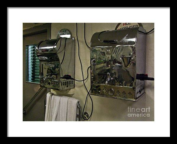 Haircut Framed Print featuring the photograph Hot Towels by Black Sun Forge