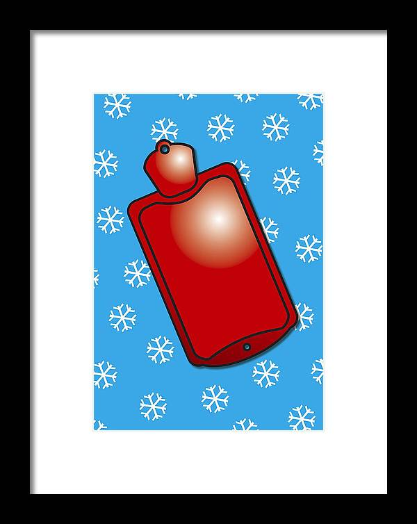 Snowflake Framed Print featuring the photograph Hot Water Bottle by David Nicholls