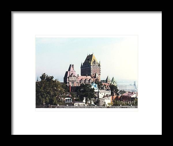 Chateau Photograph Framed Print featuring the photograph Hotel Frontenac Quebec Canada by Cedric Hampton