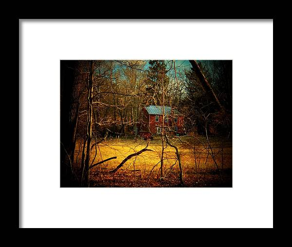 West Virginia Framed Print featuring the photograph House in the Forest by Joyce Kimble Smith