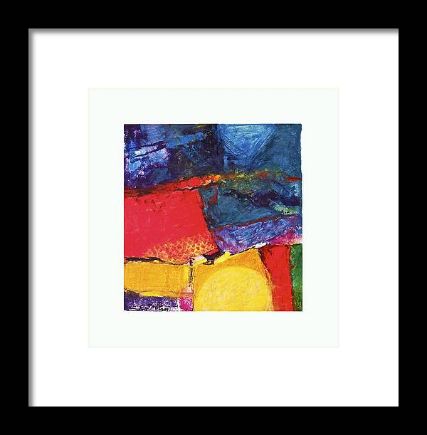 Abstract Framed Print featuring the painting House Of Rising Sun  --start- by Cliff Spohn