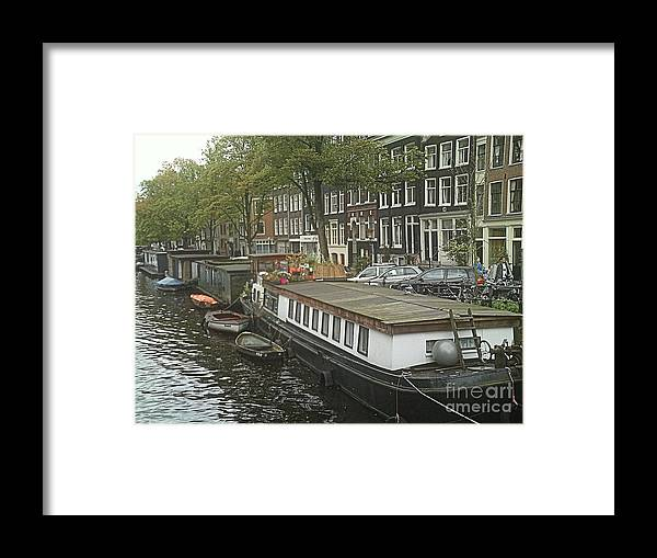 Rotterdam Framed Print featuring the photograph Houseboats of Rotterdam by Gloria J Berger