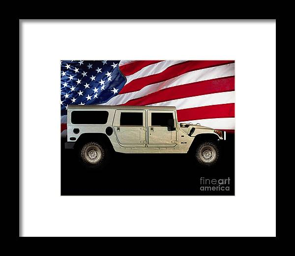 Hummer Patriot Framed Print featuring the photograph Hummer Patriot by Peter Piatt