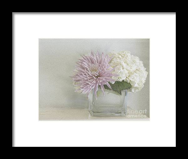 Hydrangea Framed Print featuring the photograph Hydrangea And Mum by Cindy Garber Iverson