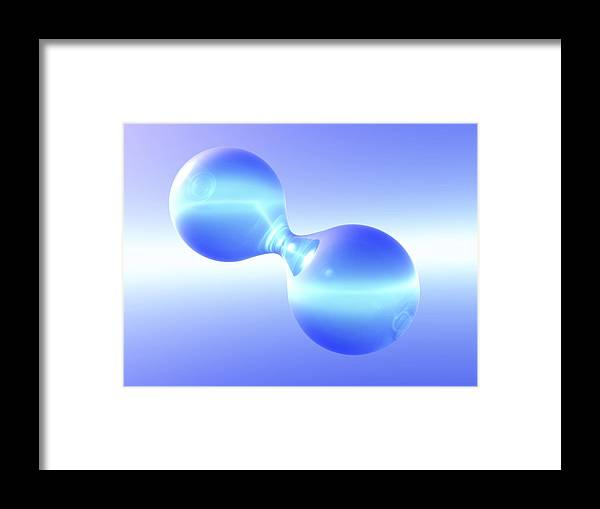 Atom Framed Print featuring the photograph Hydrogen Molecule by Pasieka