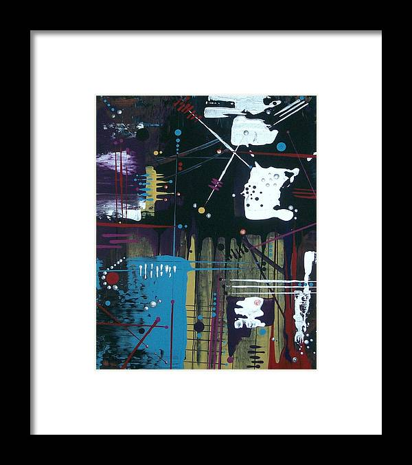 Abstract-expressionism Framed Print featuring the painting I Am Sooooo Restless Tonight by Charlotte Nunn