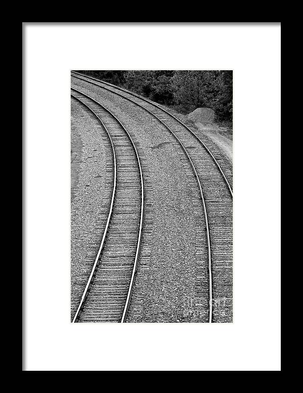 Railroad Framed Print featuring the photograph I Curve To The Left by Mark Dodd