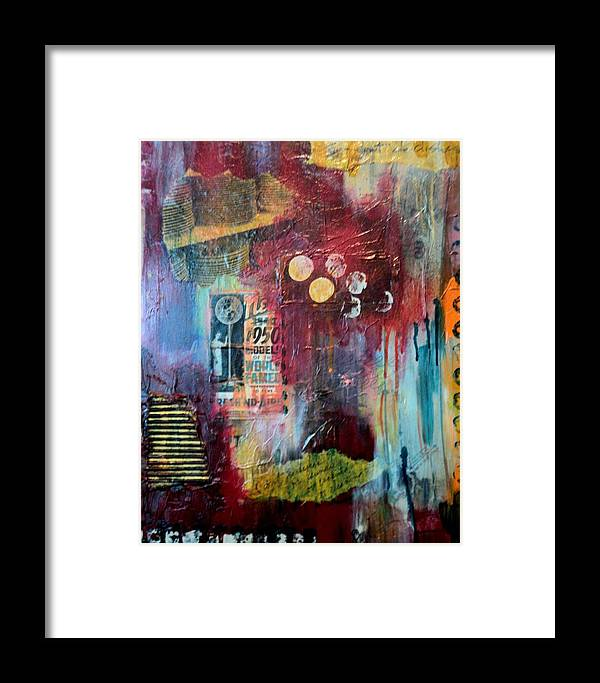 Mixed Media Framed Print featuring the painting I Don't Do Dishes by Shelli Finch