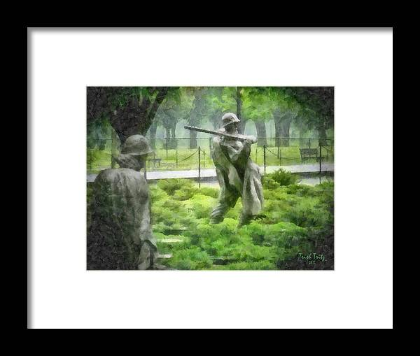 Green Framed Print featuring the photograph I Got Your Back by Trish Tritz