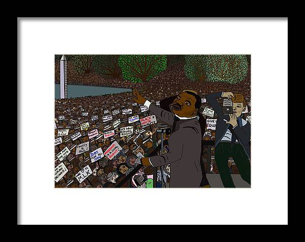 Martin Luther King Framed Print featuring the digital art I Have A Dream by Karen Elzinga
