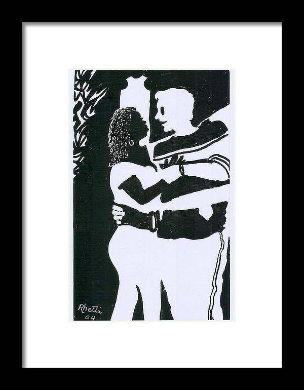 Woman Framed Print featuring the photograph I Love You by Rhetta Hughes