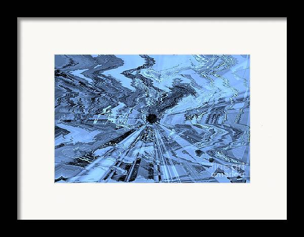 Blue Abstract Framed Print featuring the photograph Ice Blue - Abstract Art by Carol Groenen