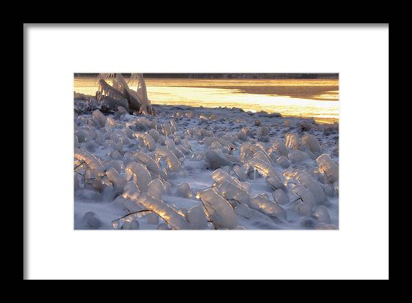 Ice Framed Print featuring the photograph Ice Candles by Brian Fisher