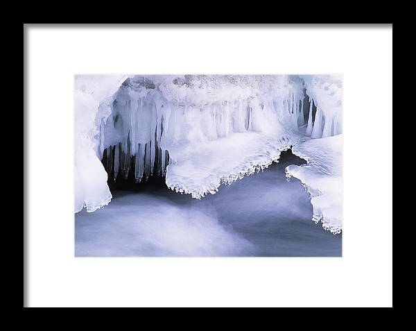 Trout River Framed Print featuring the photograph Ice Formations by David Nunuk