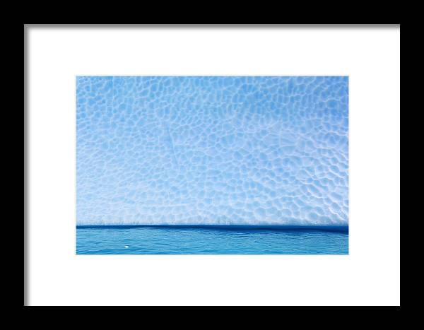 Mp Framed Print featuring the photograph Iceberg, Antarctica by Jan Vermeer
