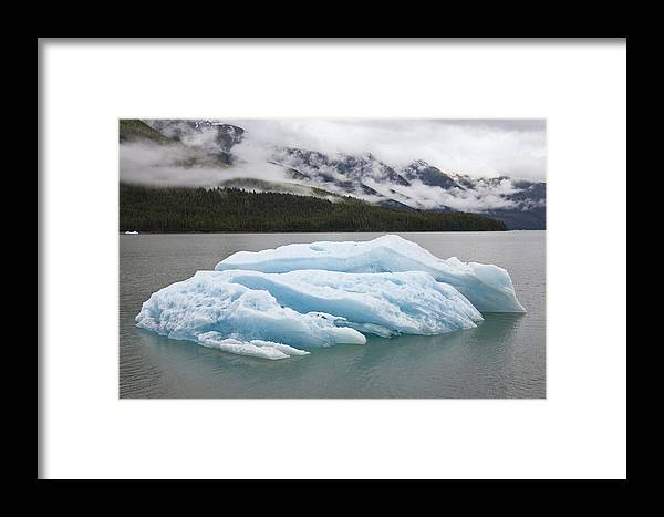 Mp Framed Print featuring the photograph Iceberg In Endicott Arm, Inside by Konrad Wothe