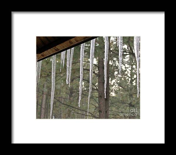 Icicle Framed Print featuring the photograph Icicle by Nicole Fleckenstein