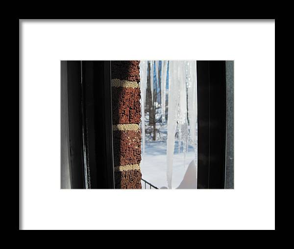 Snow Framed Print featuring the photograph Icicles by Sharon Spears