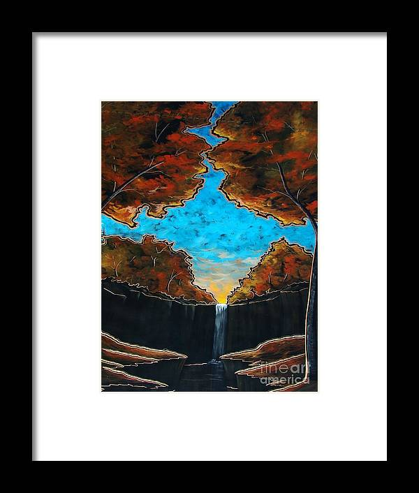 Blue Framed Print featuring the painting If I Could by Steven Lebron Langston