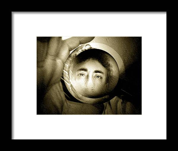Face Framed Print featuring the photograph Illusion Number 2 by Beto Machado