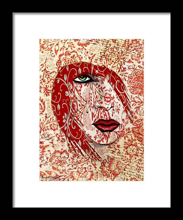 Redhead Framed Print featuring the painting Illusion Pt 2 by Barbie Guitard