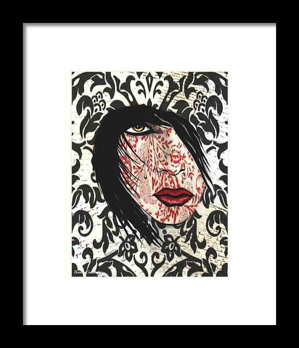 Joker Framed Print featuring the painting Illusion Pt 3 by Barbie Guitard