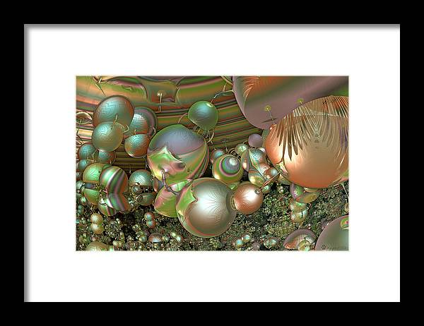 Abstract Framed Print featuring the digital art Immune Response by Peggi Wolfe