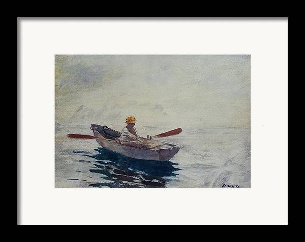 In A Boat (w/c Framed Print featuring the painting In A Boat by Winslow Homer