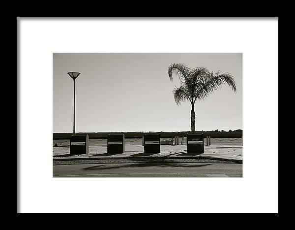 Jezcself Framed Print featuring the photograph In A Row by Jez C Self