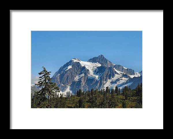 Mountain Framed Print featuring the photograph In All Her Majesty by Michael Merry