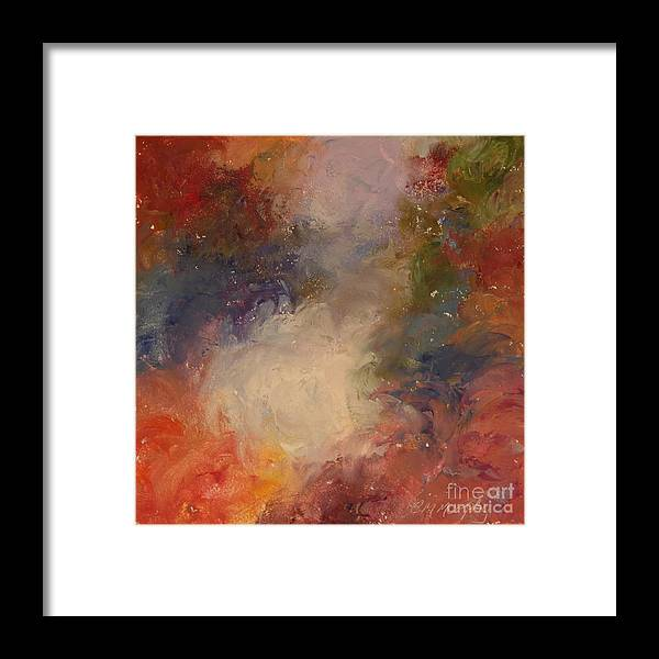 Angel Framed Print featuring the painting In the Beginning by Colleen Murphy